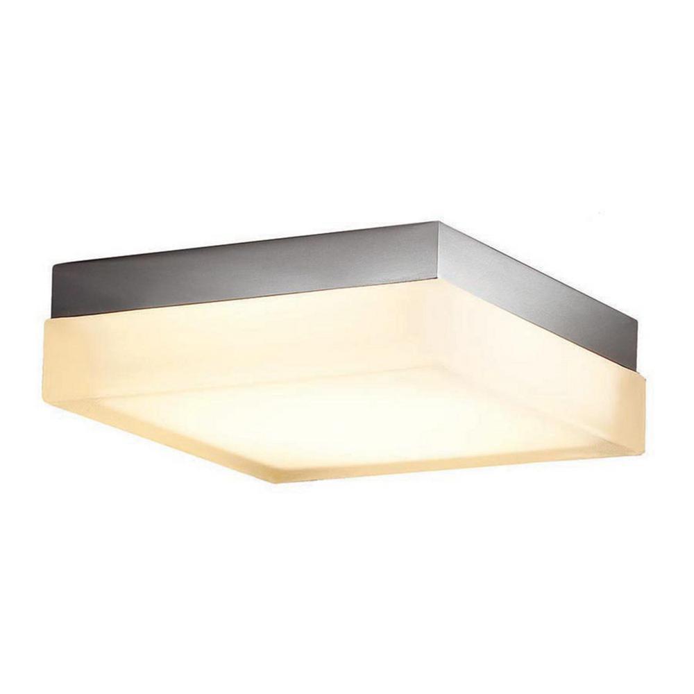 Dice 12 in. 1-Light 3000K Brushed Nickel LED Flush Mount