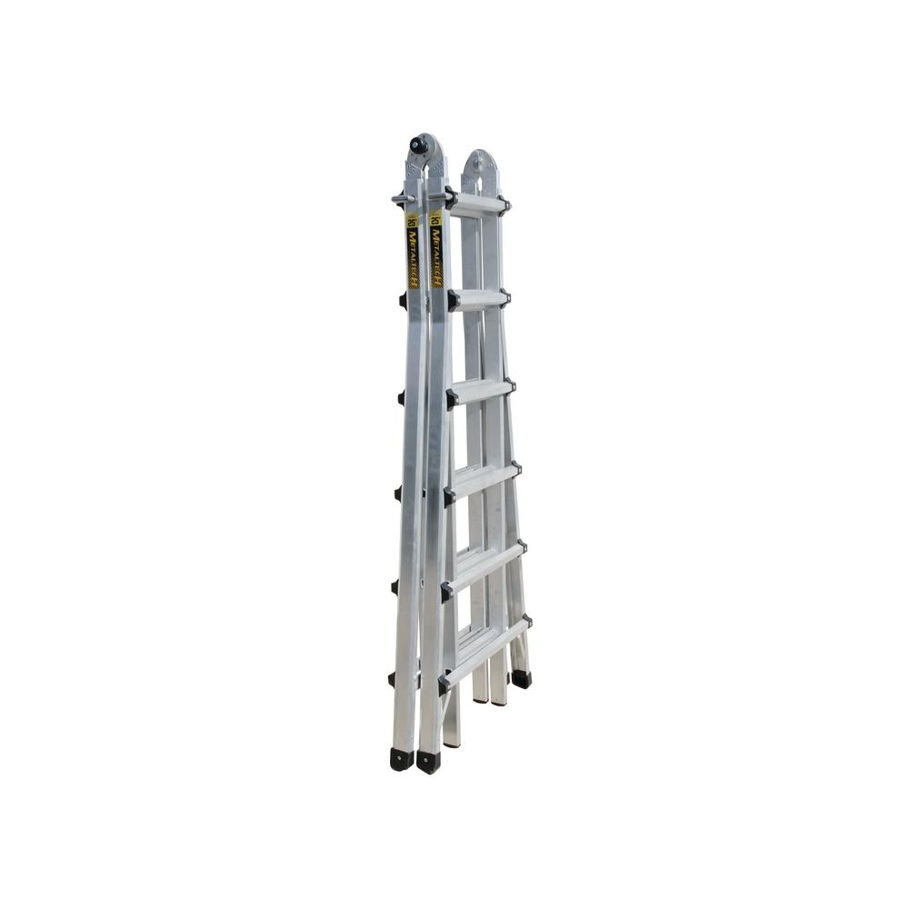 Metaltech 21 Ft Multi Position Aluminum Ladder With 300