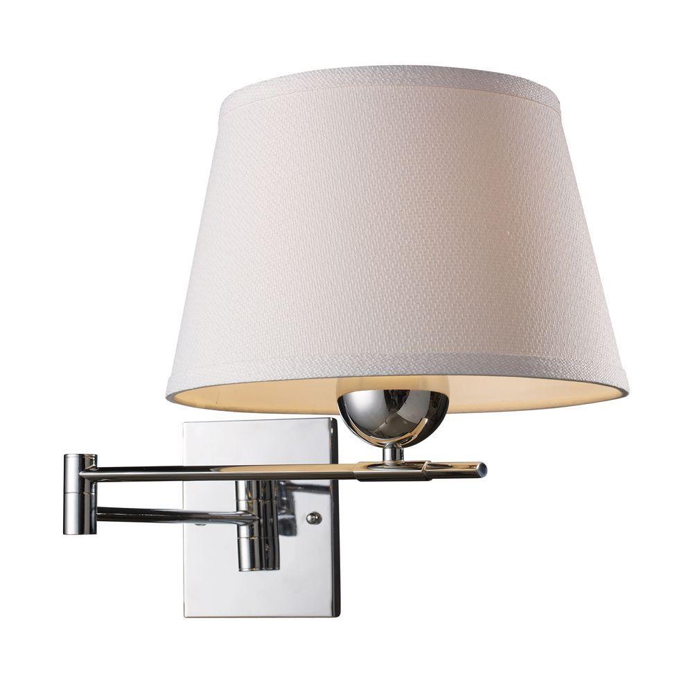 An Lighting Lanza 1 Light Polished Chrome Swing Arm Wall Mount
