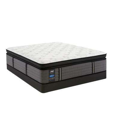 Response Premium 16 in. California King Cushion Firm Euro Pillowtop Mattress with 5 in. Low Profile Foundation Set
