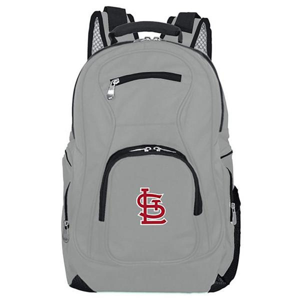 Mojo MLB St Louis Cardinals 19 in. Gray Laptop Backpack MLSLL704_GRAY
