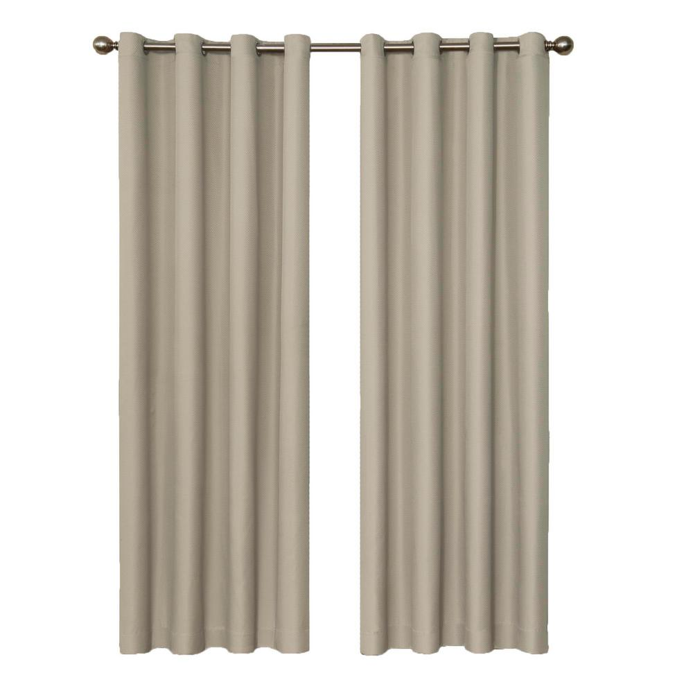 Eclipse Dane Blackout String Beige Curtain Panel, 95 in. Length (Price Varies by Size)