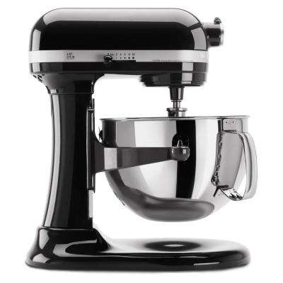 Professional 600 Series 6 Qt. 10-Speed Black Stand Mixer with Flat Beater, Wire Whip and Dough Hook Attachments