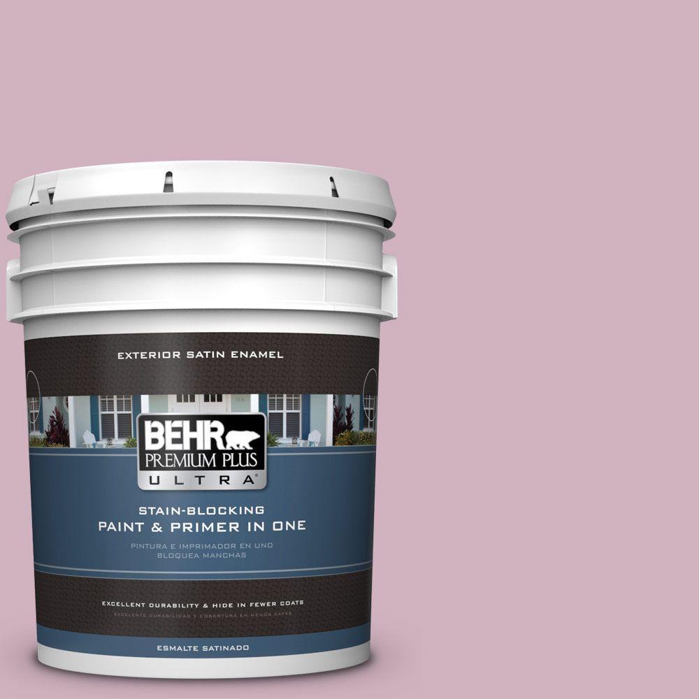 BEHR Premium Plus Ultra 5-gal. #S120-3 Candlelight Dinner Satin Enamel Exterior Paint