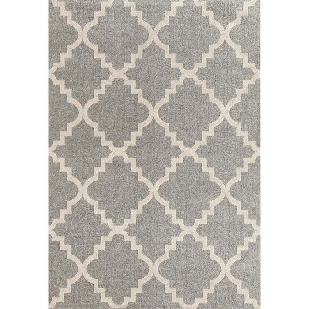 world rug gallery contemporary modern trellis gray 7 ft 6 in x 9 ft 5 in area rug 9102 gray. Black Bedroom Furniture Sets. Home Design Ideas