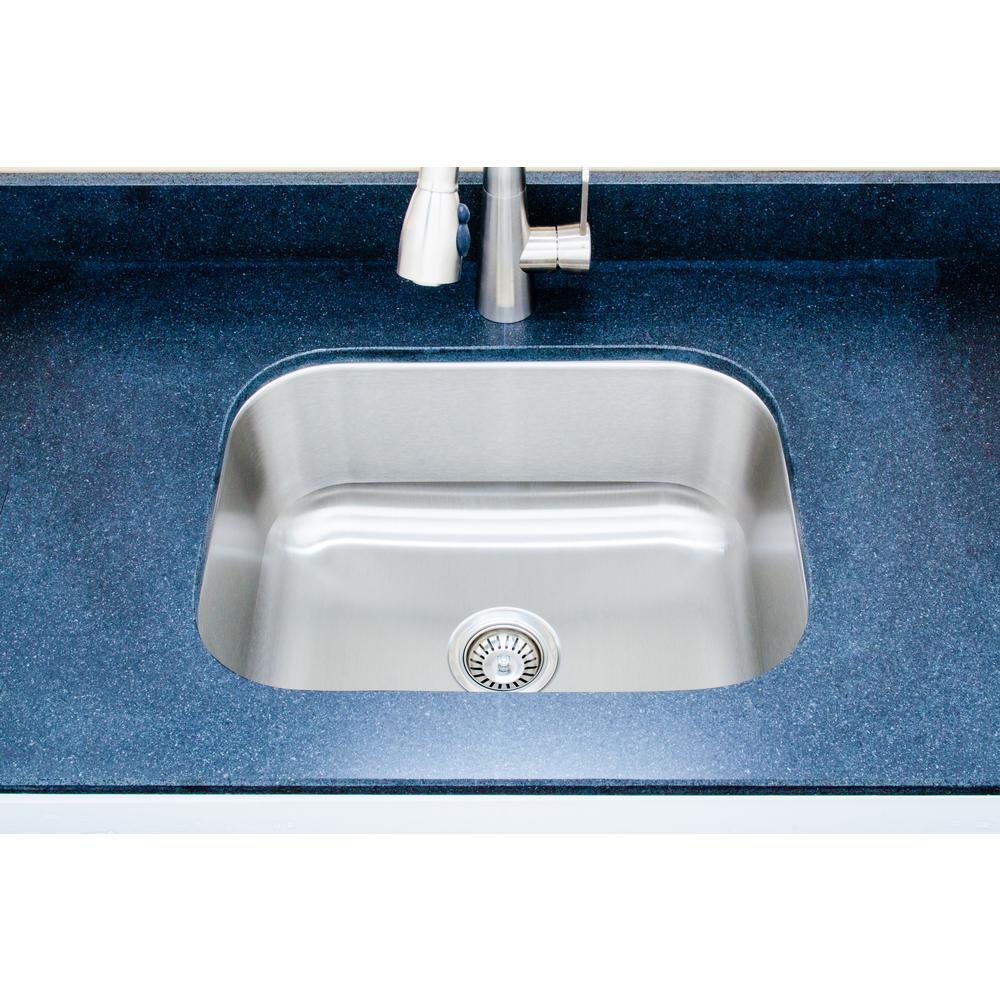 Wells The Craftsmen Series Undermount  Stainless Steel 23 in. Single Bowl Kitchen Sink