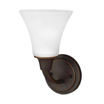 Metcalf 1-Light Autumn Bronze Sconce with LED Bulbs