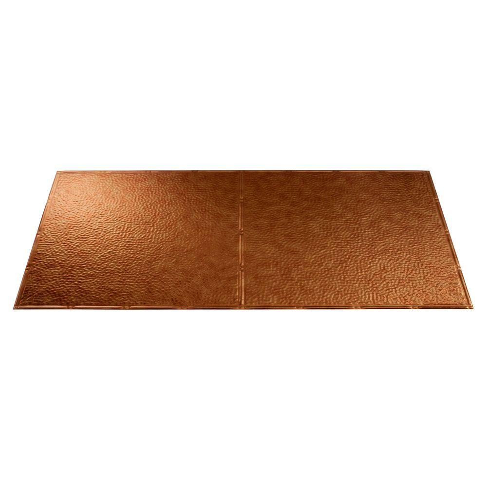 Fasade Border Fill 2 ft. x 4 ft. Antique Bronze Lay-in Ceiling Tile