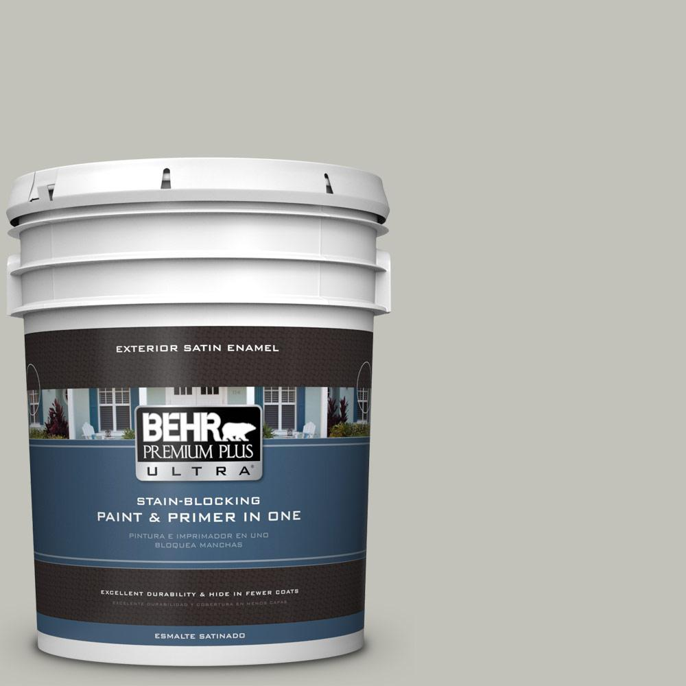 5 gal. #PPU25-09 Foggy London Satin Enamel Exterior Paint