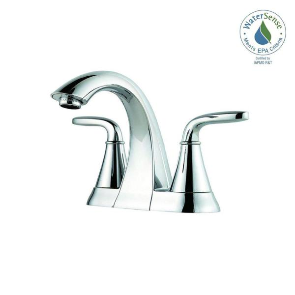 Pasadena 4 in. Centerset 2-Handle Bathroom Faucet in Polished Chrome