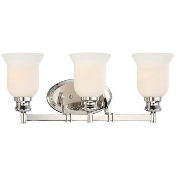 Audreys Point 3-Light Polished Nickel Bath Light