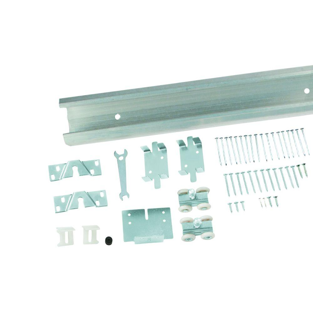Everbilt Pocket Door Track and Hardware Set-12610 - The Home Depot on