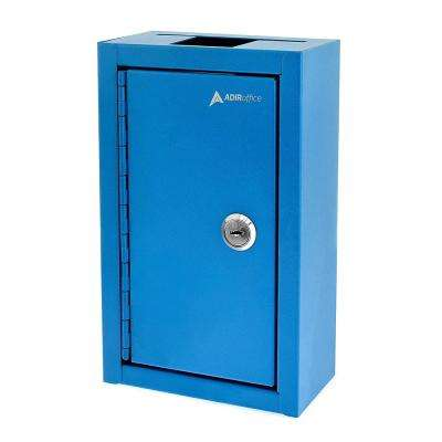 Commercial Grade Large Storage Key Drop Box, Blue