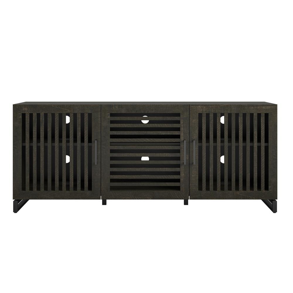 Sherman 60 in. Brown Oak Particle Board TV Stand Fits TVs Up to 65 in. with Cable Management