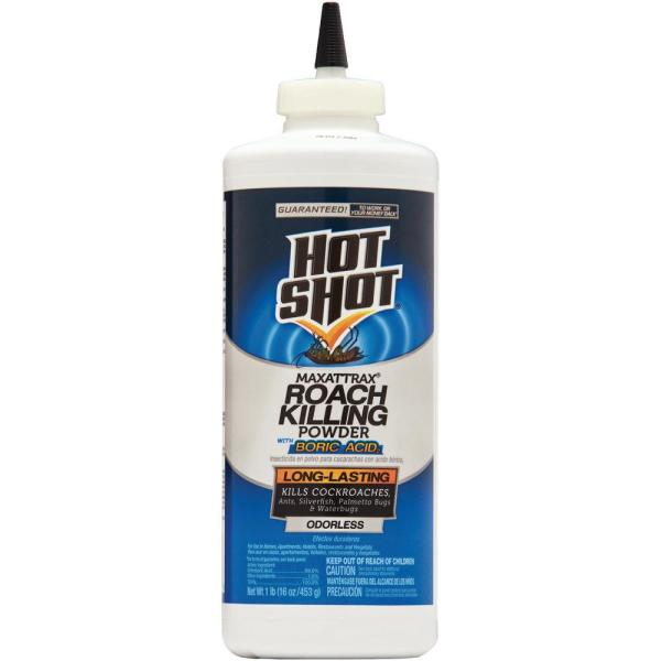Hot Shot Maxattrax 1 Lb Roach Killing Powder With Boric Acid Hg 96023 1 The Home Depot