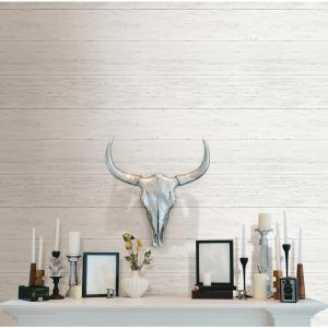 NuWallpaper Off-White Shiplap Peel and Stick Wallpaper by NuWallpaper