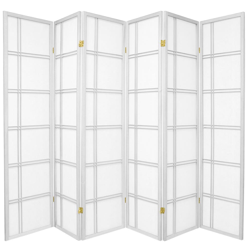 White 6 Panel Room Divider