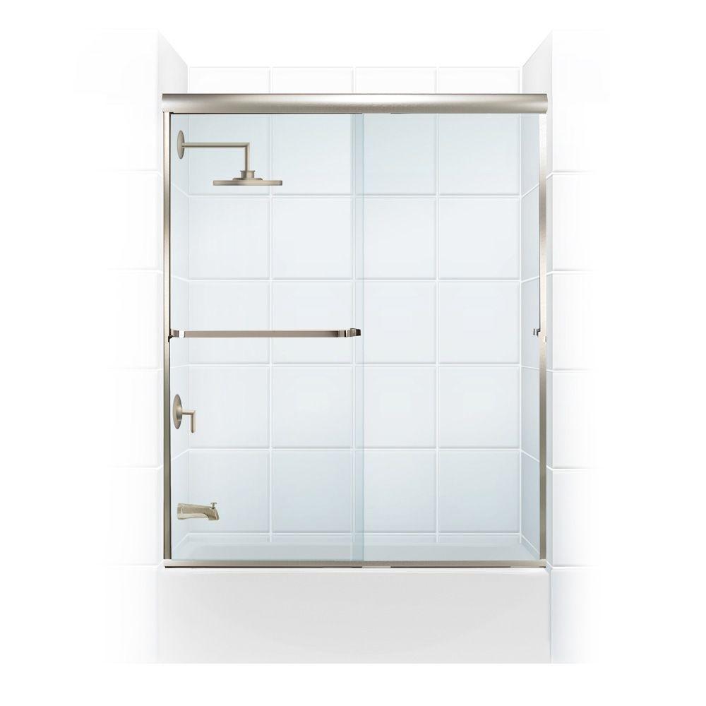 Coastal Shower Doors Paragon 3/16 B Series 56 in. x 57 in. Semi ...