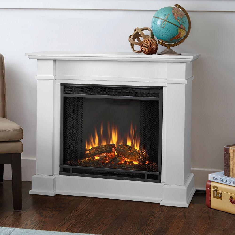 white real flame freestanding electric fireplaces 1220e w 64_1000 hampton bay cedarstone 29 in 3 element mantel infrared electric  at fashall.co