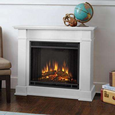Devin 36 in. Electric Fireplace in White