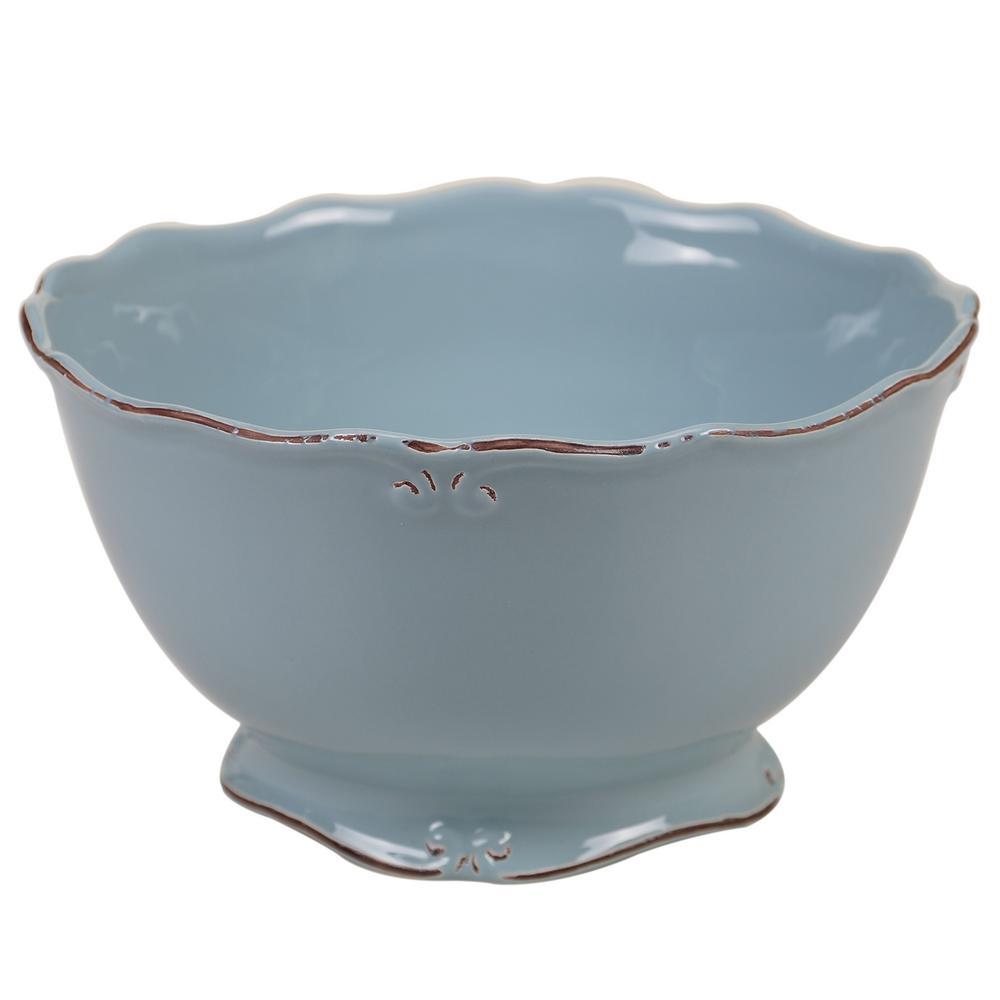 Vintage Blue 128 oz. Deep Bowl