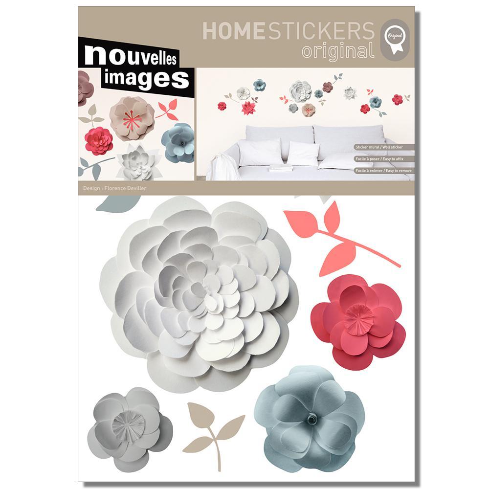 Multicolor Flowers Trompe L'Oeil Home Sticker