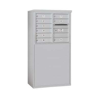 3900 Horizontal Series 9-Compartment Free Standing Mailbox