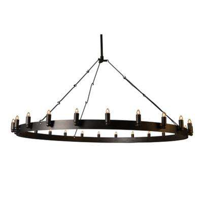 Verdun 24-Light Iron Black Chandelier