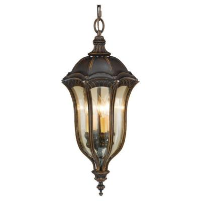 Baton Rouge 4-Light Walnut Outdoor Hanging Pendant