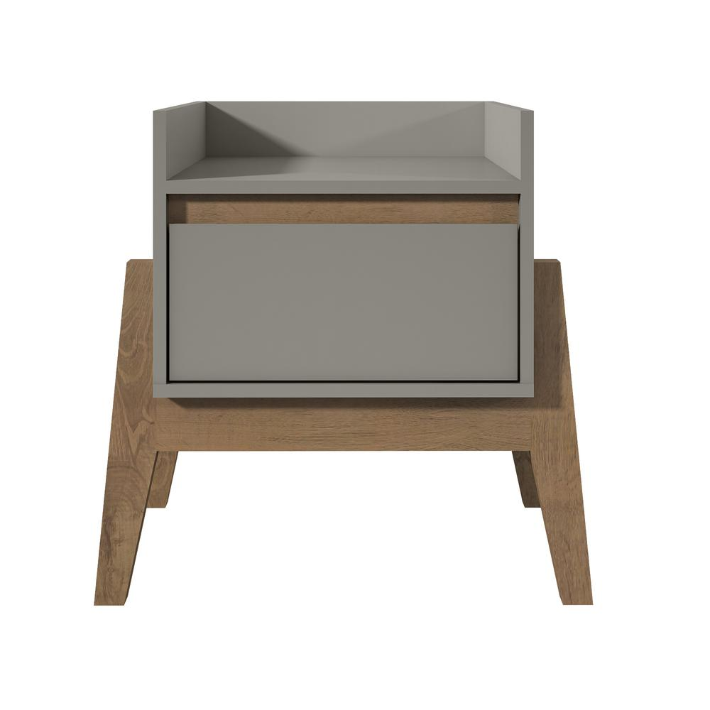 Essence 1 Full Extension Drawer Nightstand In Grey