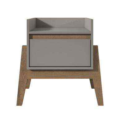 Essence 1-Full Extension Drawer Nightstand in Grey