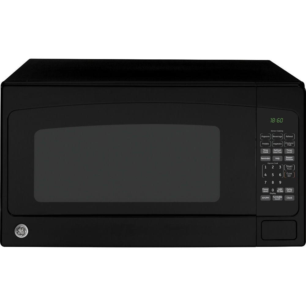 GE 1.8 cu. ft. Countertop Microwave in Black GE appliances provide up-to-date technology and exceptional quality to simplify the way you live. With a timeless appearance, this family of appliances is ideal for your family. And, coming from one of the most trusted names in America, you know that this entire selection of appliances is as advanced as it is practical. Color: Black.