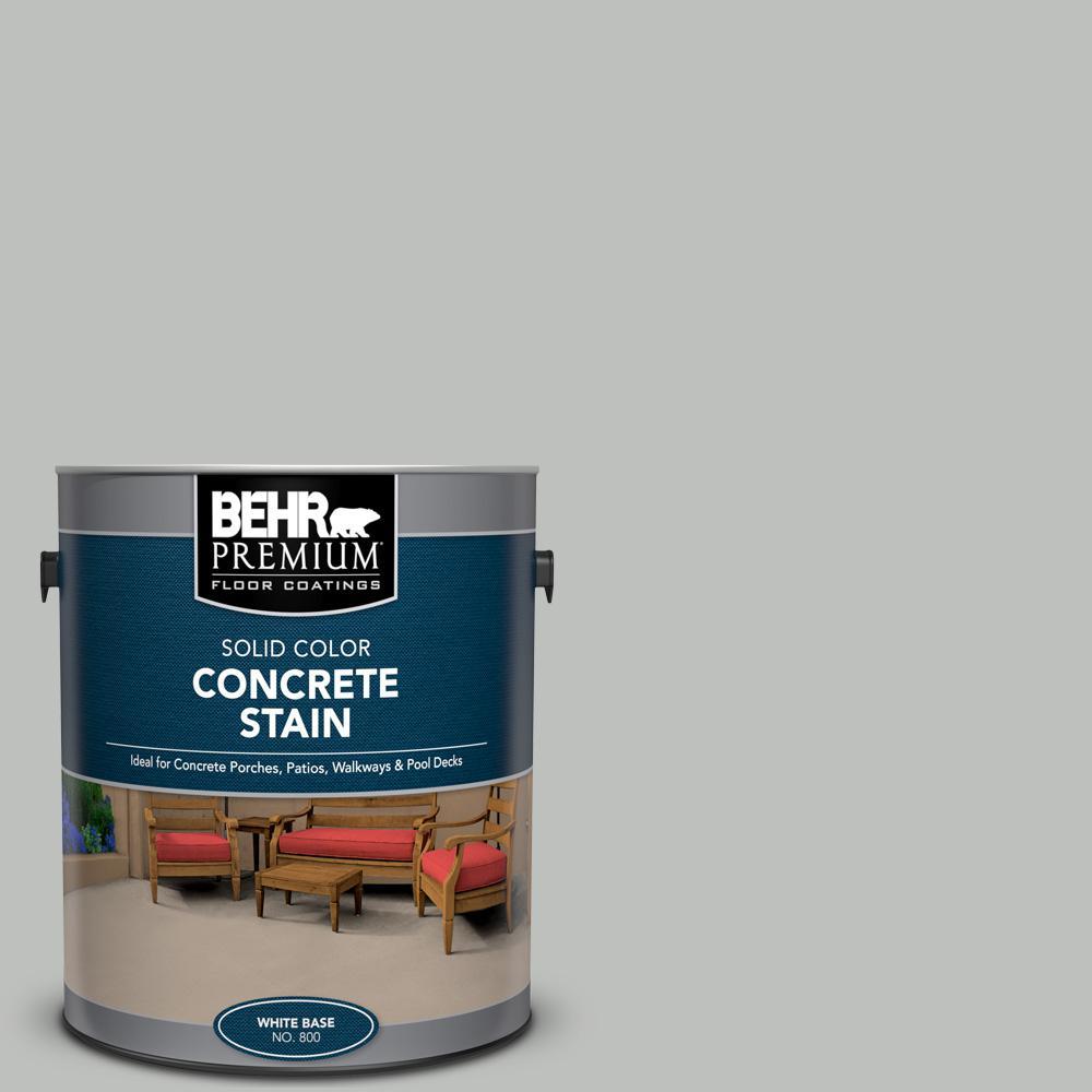 BEHR PREMIUM 1 gal. #PFC-62 Pacific Fog Solid Color Flat Interior/Exterior Concrete Stain