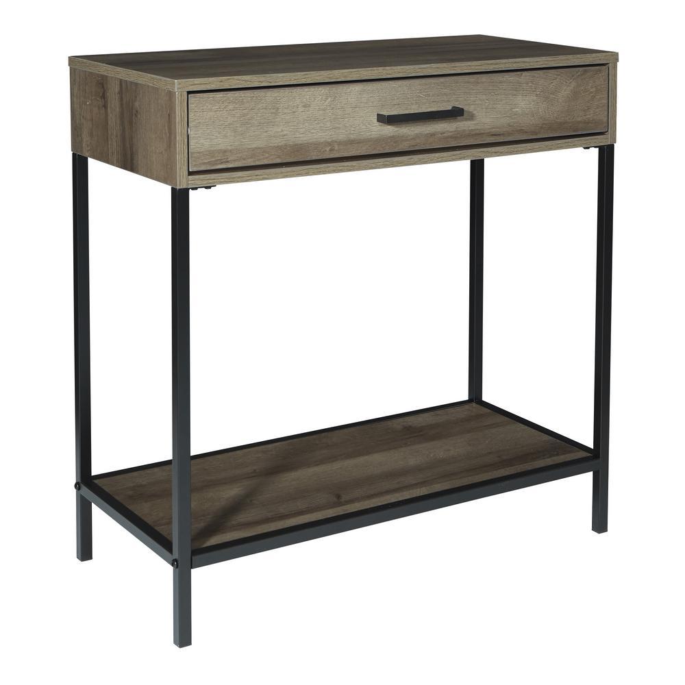 "Braydon 30"" Accent Foyer Table in Grey Oak Finish"