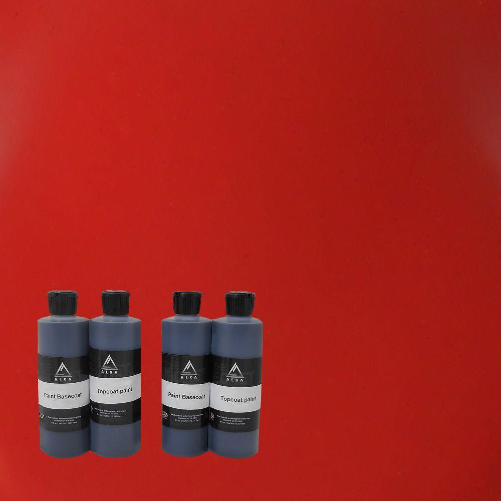 Car Spray Kit Matte: Alsa Refinish 1-qt. Red Paint Wrap Kit Removable Paint-PW