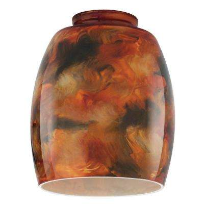 5-3/8 in. Handblown Fire Pit Shade with 2-1/4 in. Fitter and 4-1/2 in. Width