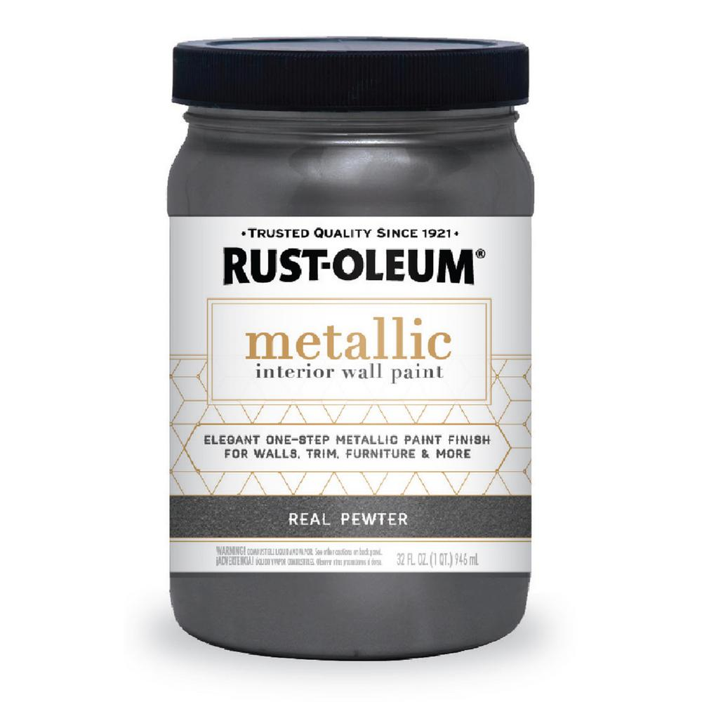 Rust-Oleum 1 qt. Real Pewter Metallic Paint (2-Pack)-320735 - The ...