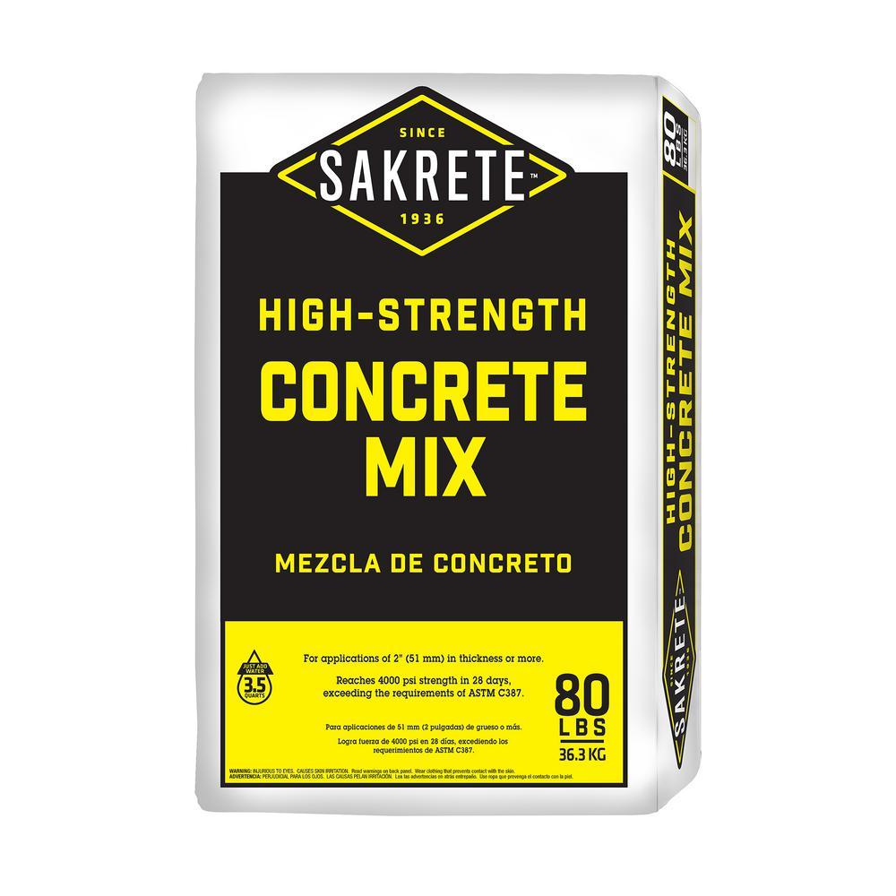 SAKRETE 80 lb. Gray Concrete Mix