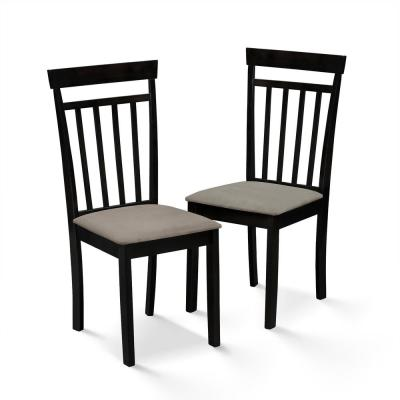 Kansas Cappuccino Micro Fabric Dining Chair (Set of 2)