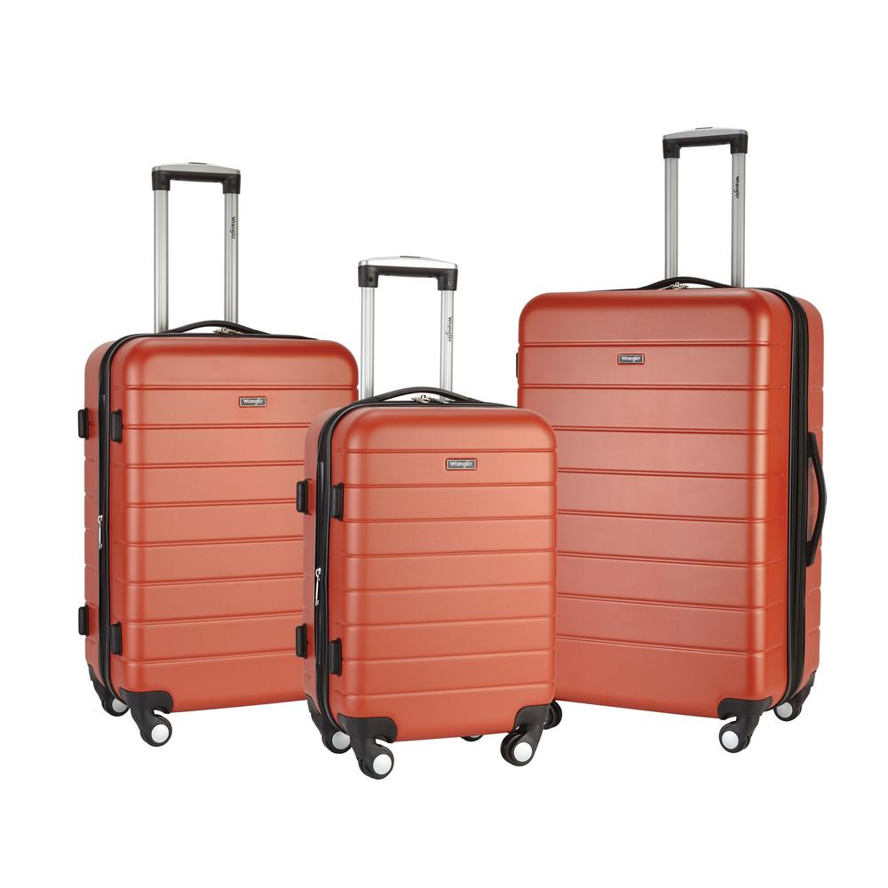 bf4584b9200c5 Wrangler 3-Piece Hardside Vertical Luggage Collection-WR-20203-3C-EX ...