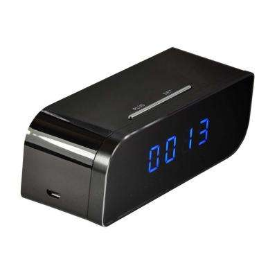 720p Battery Powered Desk Clock with Wi-Fi and Hidden Camera