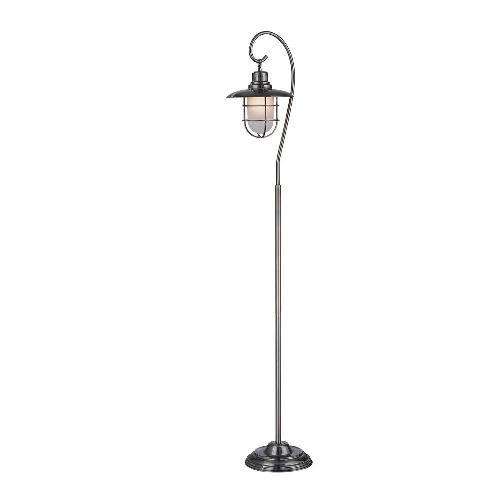 Octavia Floor Lamp Brass: Illumine 59 In. Antique Brass Floor Lamp With Clear Glass