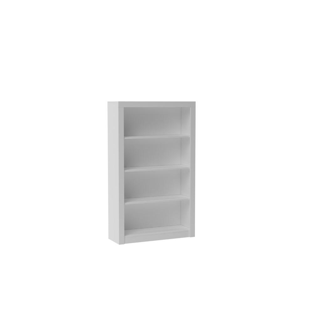Great Manhattan Comfort Olinda White Open Bookcase