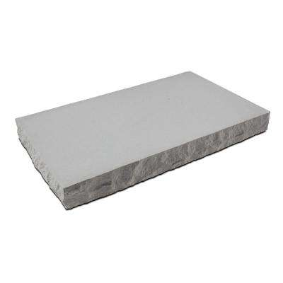 Silver Creek 24 in W x 12 in. D x 2.25 in. H Indiana Limestone Concrete Seat Wall Cap 3 Chiseled Edges