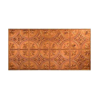 Traditional 2 - 2 ft. x 4 ft. Glue-up Ceiling Tile in Antique Bronze