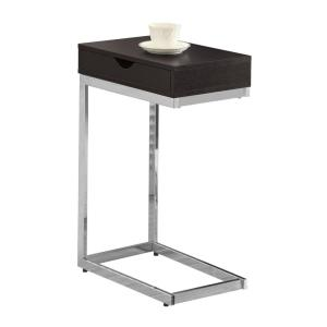 Internet #205217971. Monarch Specialties Cappuccino And Chrome End Table