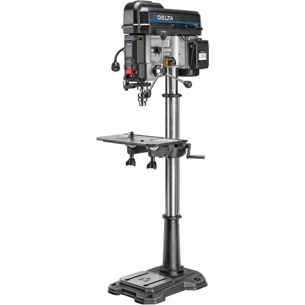 Delta 18 in  Floor Standing Drill Press with Worklight, Laser and 16-Speeds