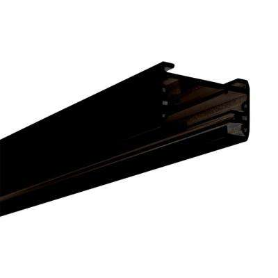 8 ft. Black Linear Track Lighting Section