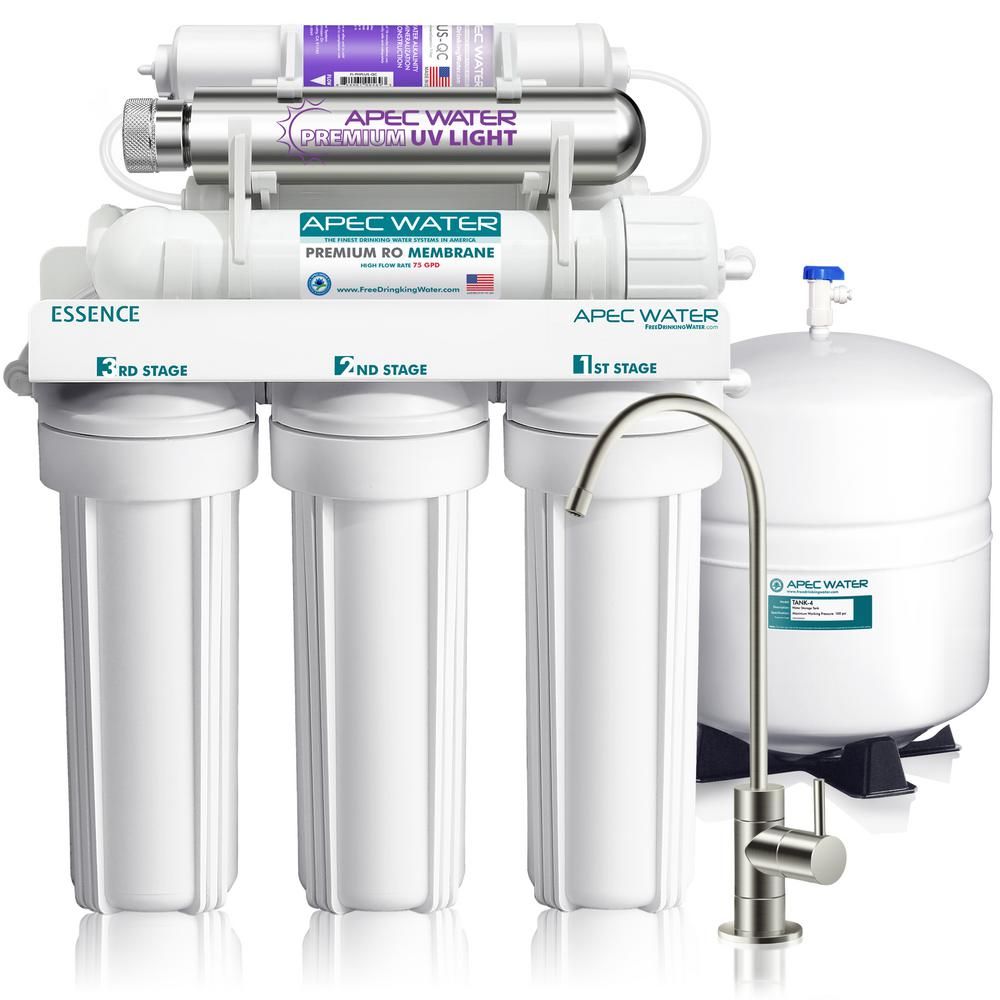 Essence 75 GPD 7-Stage Reverse Osmosis Water Filtration System with Alkaline