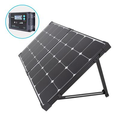 100-Watt Eclipse Monocrystalline Portable Suitcase Off-Grid Solar Power Kit with Voyager Waterproof Charge Controller